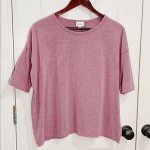LuLaRoe Pink Short Sleeve Boxy T-shirt Sz XS